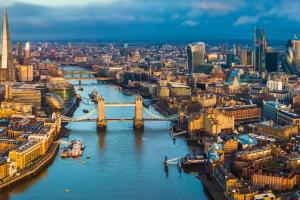 London city scape carousel